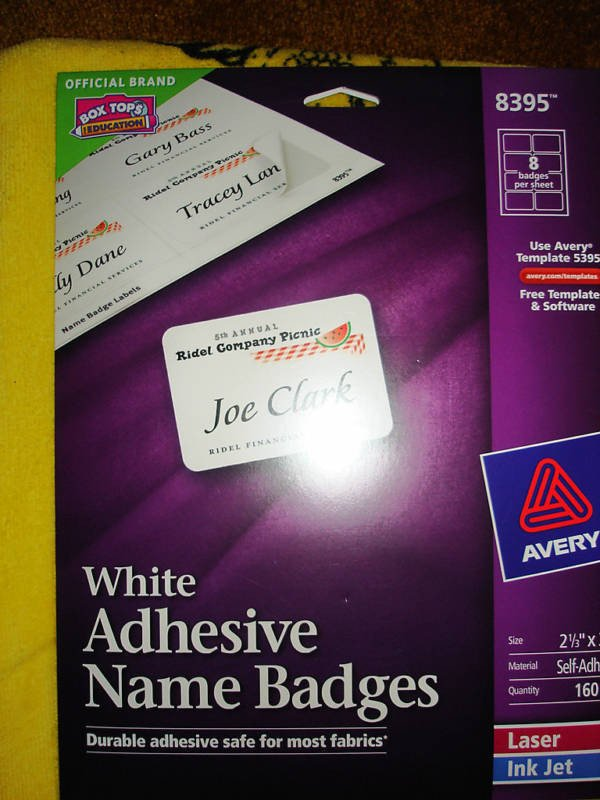 Avery Labels Name Badge Template Avery Adhesive Name Badges Labels 8395