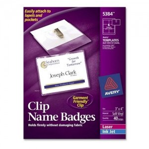 Avery Labels Name Badge Template Avery Name Badge Kit 5384 Ave5384