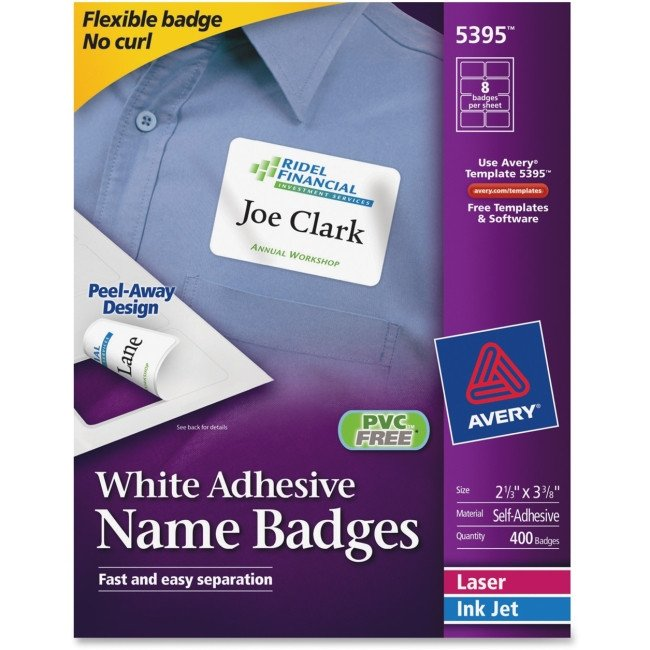 Avery Name Badges Template 5395 Name Badge Label Avery 5395 Avery Labels & Labeling Systems