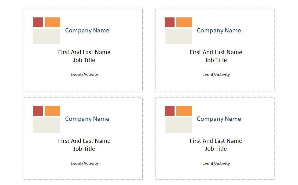 Avery Name Badges Template 5395 Patible with Avery Name Badge Template 5395
