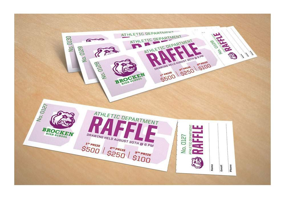 Avery Printable Tickets Template Amazon Avery Tickets with Tear Away Stubs 1 75
