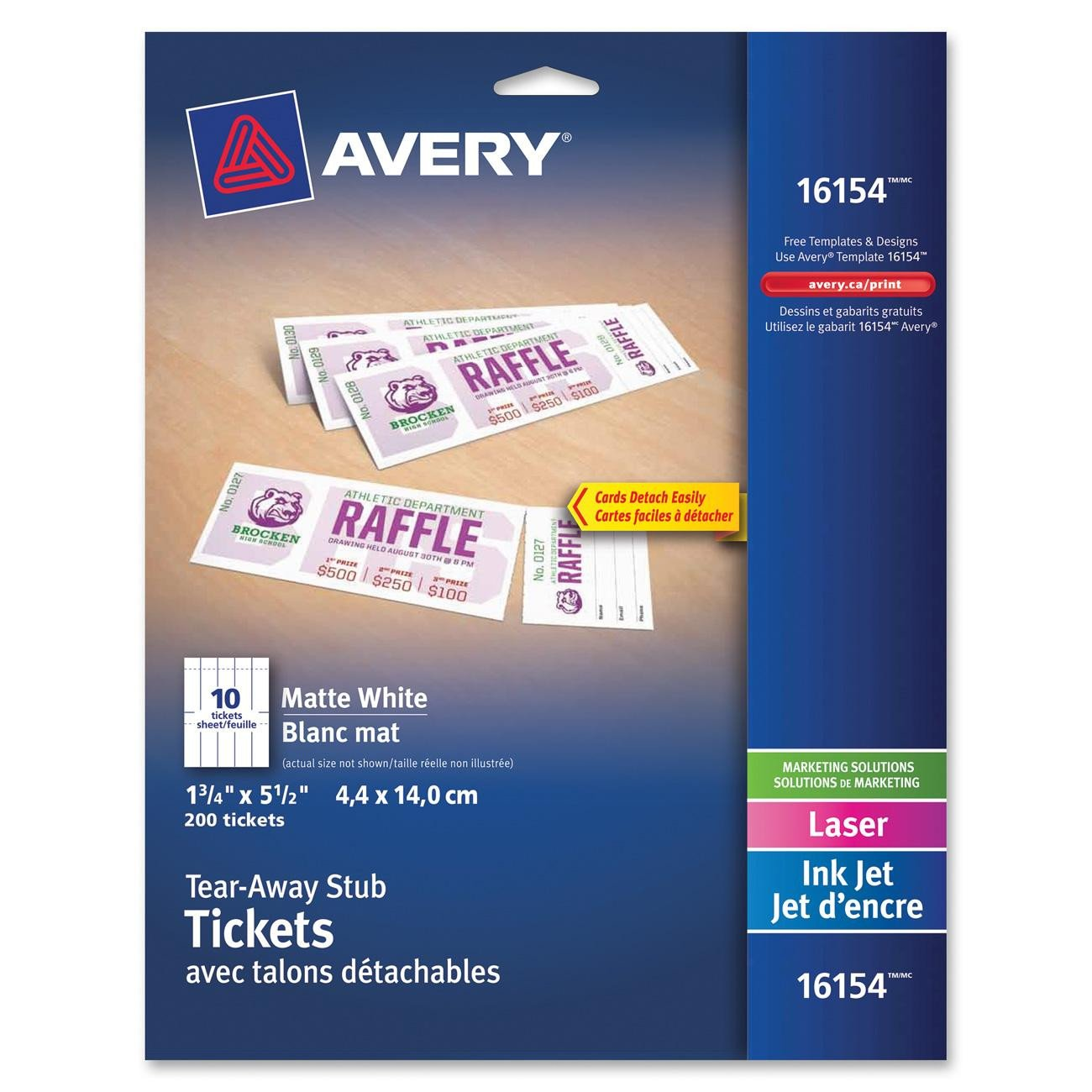 Avery Printable Tickets Template Avery Tear Away Stubs Custom Printable Tickets 1 3 4