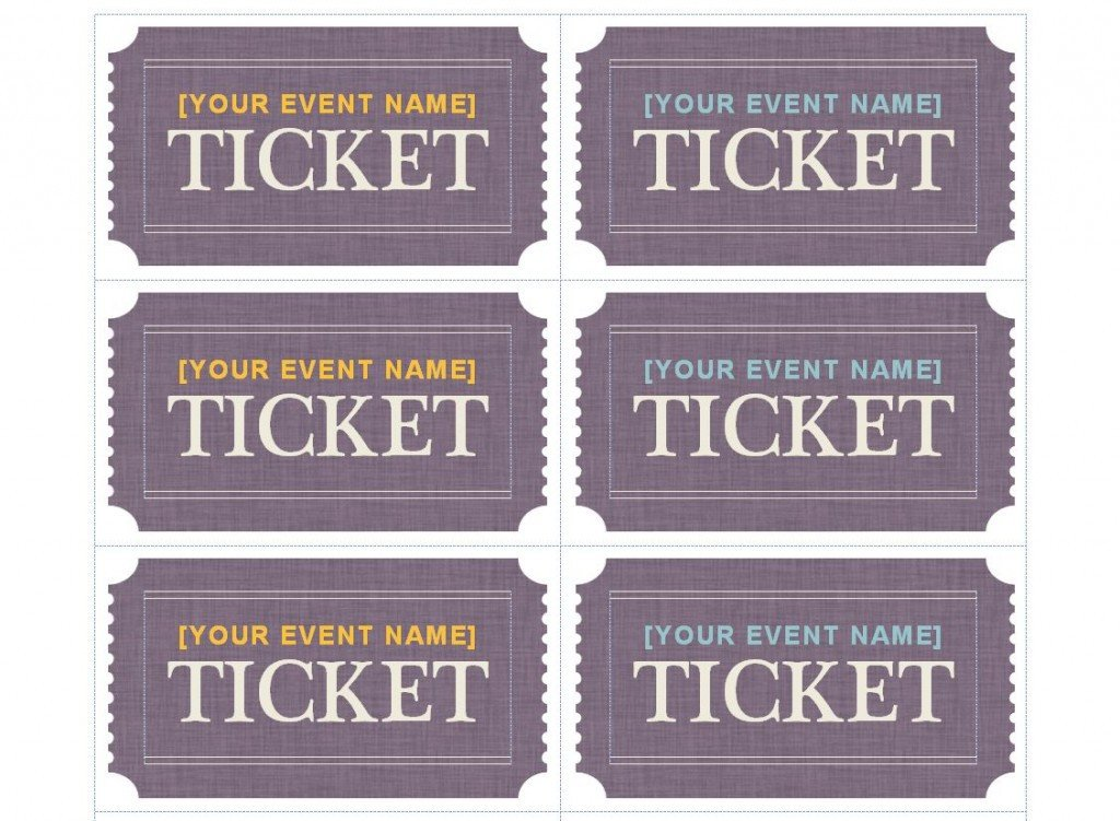 Avery Printable Tickets Template Patible with Avery Ticket Template