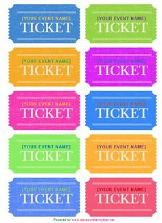 Avery Printable Tickets Template Polka Dot and Stripes Editable Labels Three Sizes Avery