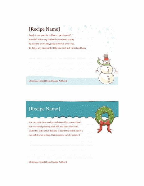 Avery Recipe Card Template 17 Best Images About Holiday Templates On Pinterest