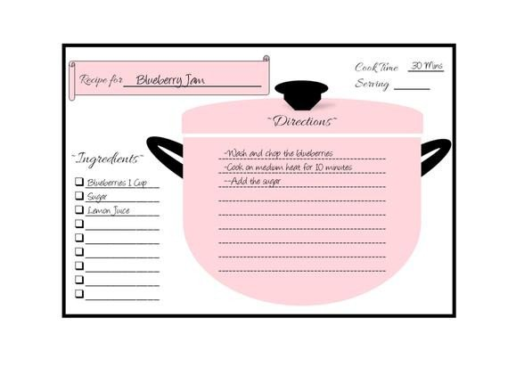 Avery Recipe Card Template Items Similar to Recipe Cards Recipe Card Template Recipe