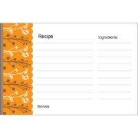 Avery Recipe Card Template Templates Autumn Colors Recipe Card On Postcards 2 Per