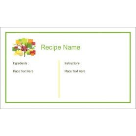 Avery Recipe Card Template Templates Family Reunion Recipe Cards with Tree 3 Per