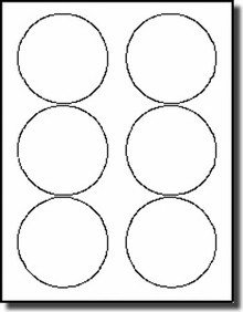 """Avery Round Label Template 600 Glossy 3 1 3"""" Diameter Round Inkjet Only Labels"""