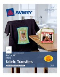 Avery T Shirt Template Avery Dark T Shirt Transfers for Inkjet Printers 3279 8 1