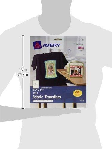 "Avery T Shirt Template Avery Dark T Shirt Transfers Matte 8 5"" X 11"" 5 Sheets"