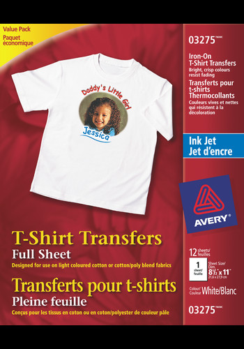 "Avery T Shirt Template Avery T Shirt Transfers 8 1 2"" X 11"" White"
