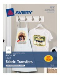 "Avery T Shirt Template Avery T Shirt Transfers for Inkjet Printers 8938 8 1 2"" X"