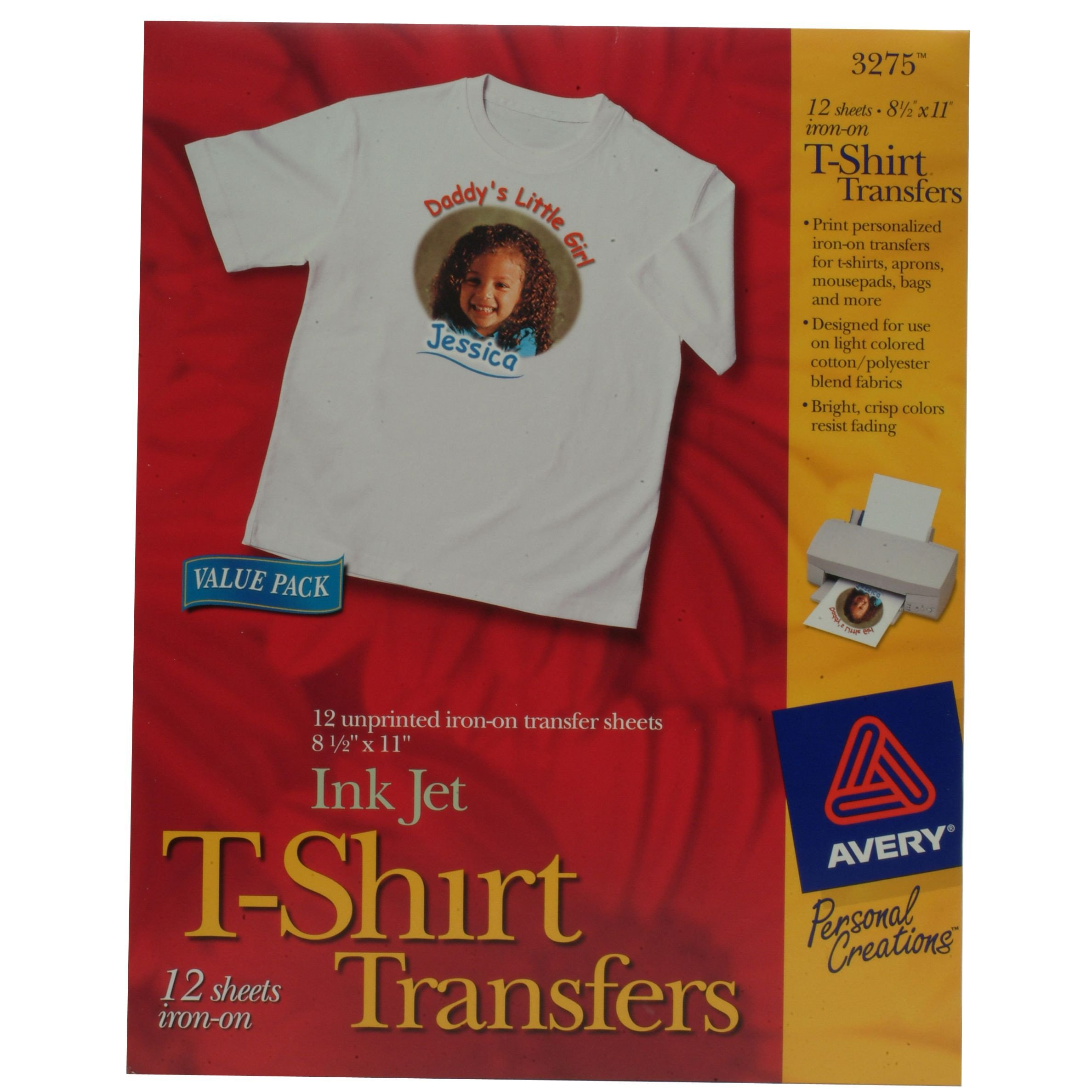 Avery T Shirt Template Avery T Shirt Transfers Inkjet 12 Sheet