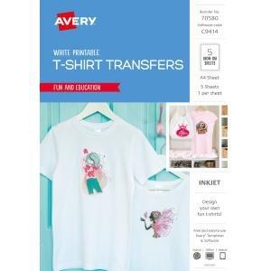 Avery T Shirt Template Avery White Coloured T Shirt Transfer for Inkjet Printers