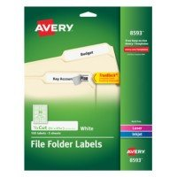 Avery Template 8593 Avery White File Folder Labels 8593