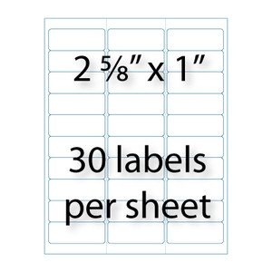 "Avery Word Template 5160 Address Labels 2 5 8"" X 1 "" 30 Up"