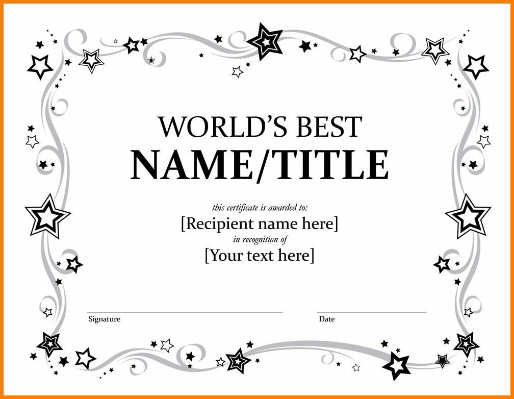Award Certificate Template Free 12 Editable Printable Certificates