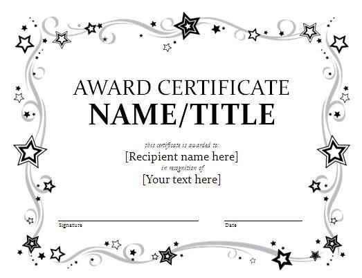 Award Certificate Template Free 25 Best Ideas About Certificate Templates On Pinterest