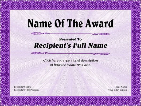 Award Certificate Template Free 99 Free Printable Certificate Template Examples In Pdf