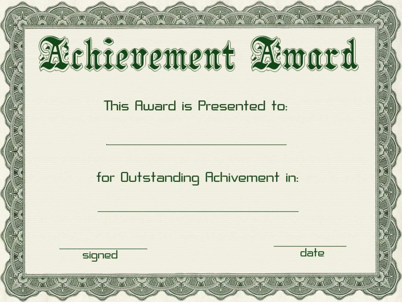 Award Certificate Template Free Certificate Templates