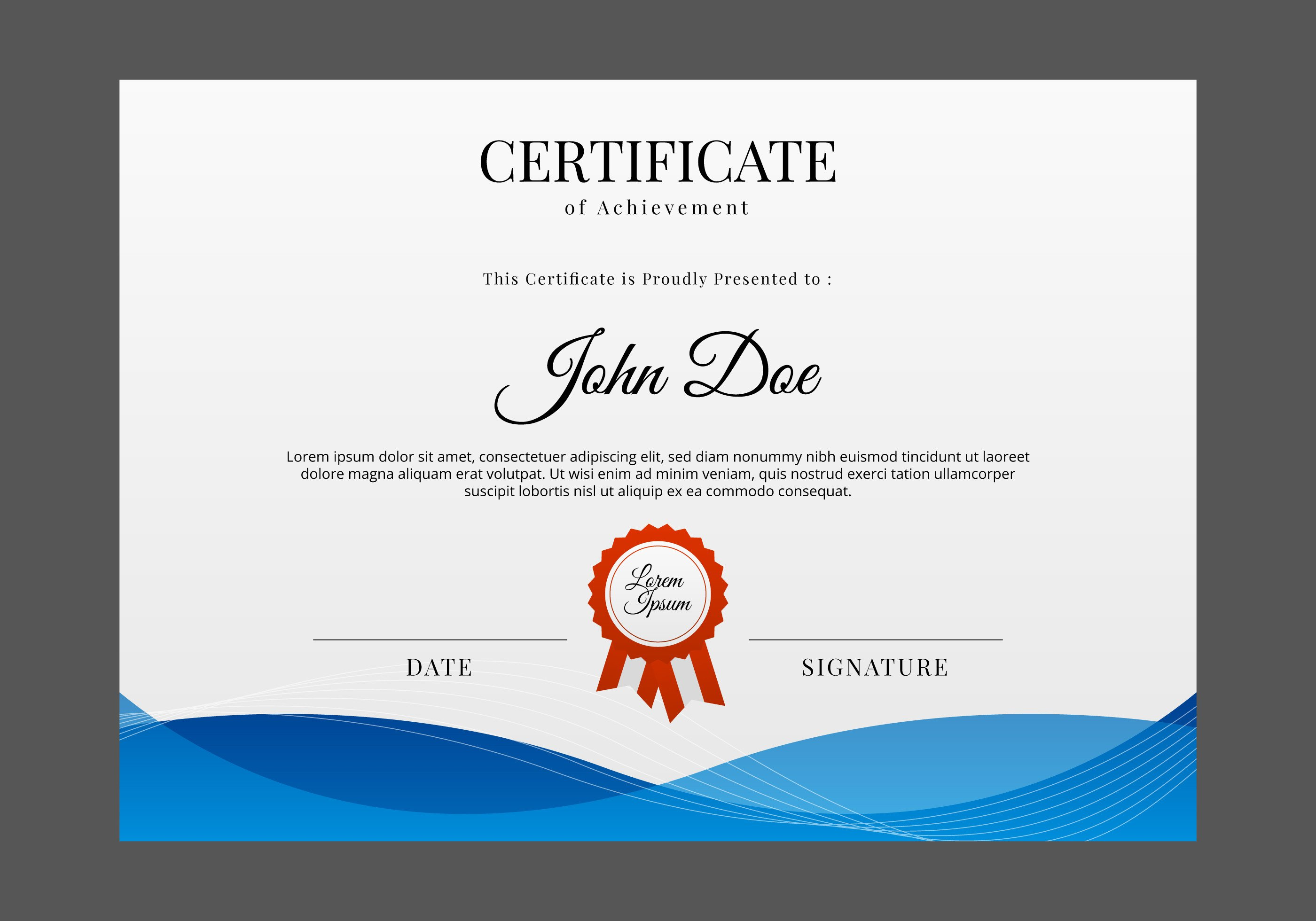 Award Certificate Template Free Free Certificate Template Vector Download Free Vector