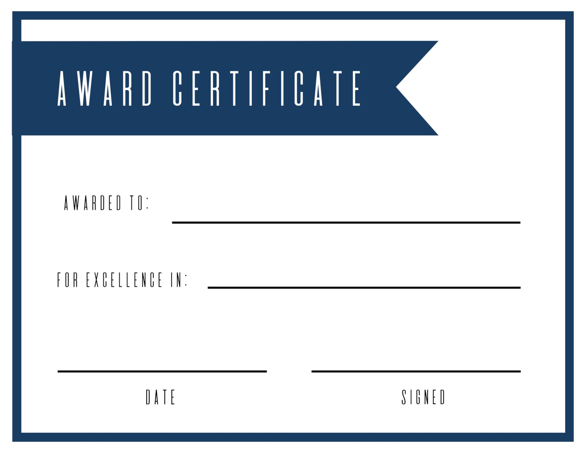 Award Certificate Template Free Free Printable Award Certificate Template Paper Trail Design