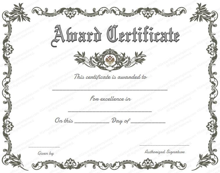 Award Certificate Template Free Royal Award Certificate Template Get Certificate Templates