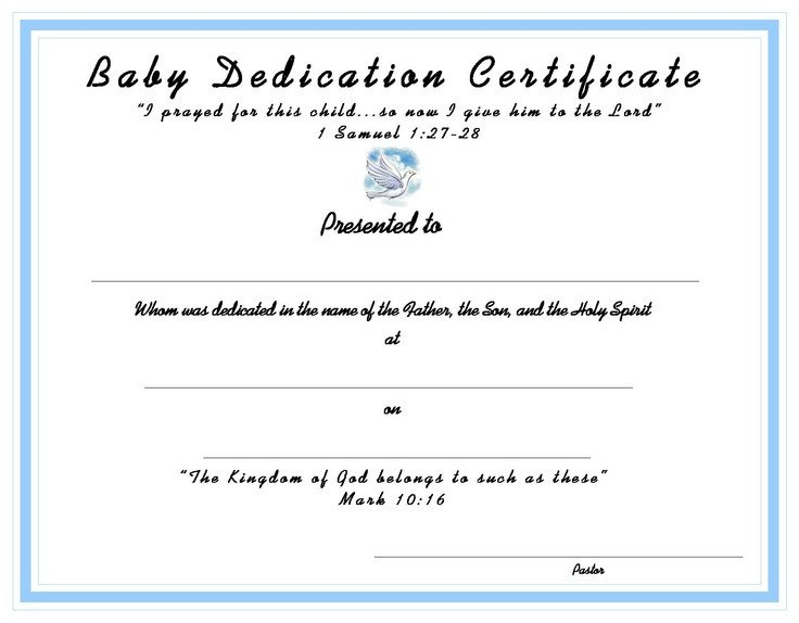 Baby Dedication Certificate Templates 10 Best Church Certificates Images On Pinterest