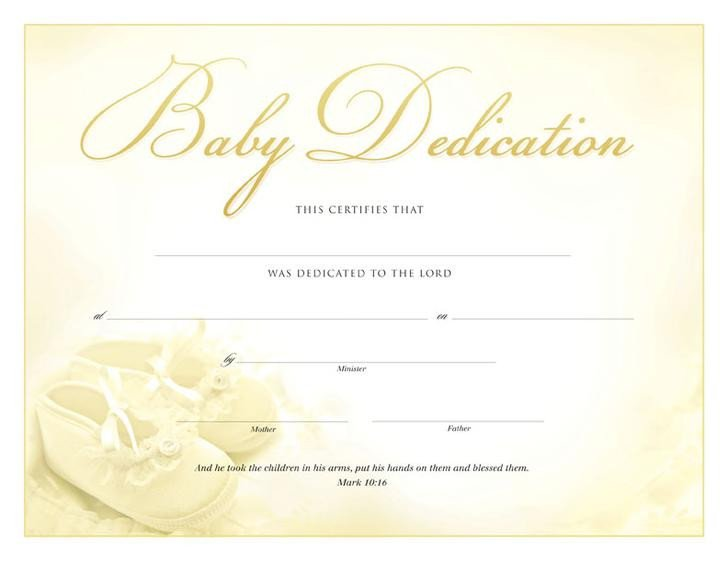 Baby Dedication Certificate Templates 18 Baby Dedication Certificate Template Free Download