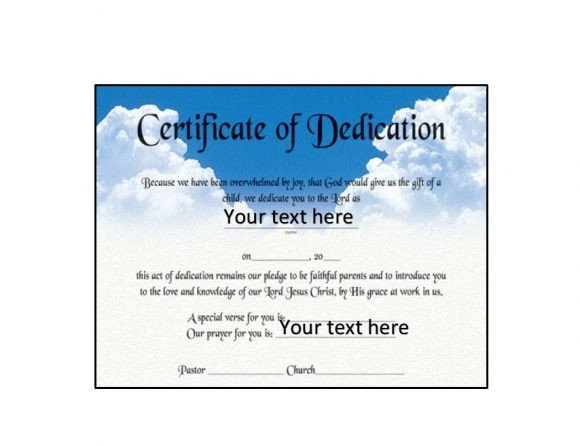 Baby Dedication Certificate Templates 50 Free Baby Dedication Certificate Templates Printable