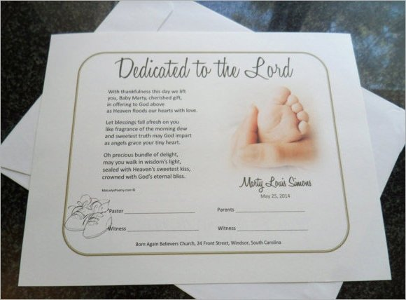 Baby Dedication Certificate Templates Baby Dedication Certificate 7 Download Free Documents