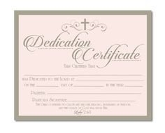 Baby Dedication Certificate Templates Baby Dedication Certificate