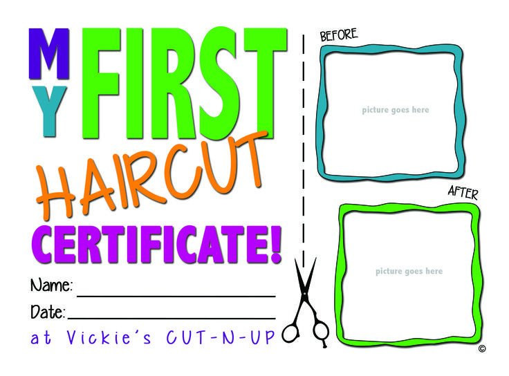Baby First Haircut Certificate 25 Best Ideas About First Haircut On Pinterest