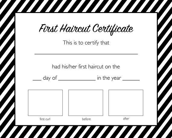 Baby First Haircut Certificate Best 25 First Haircut Ideas On Pinterest