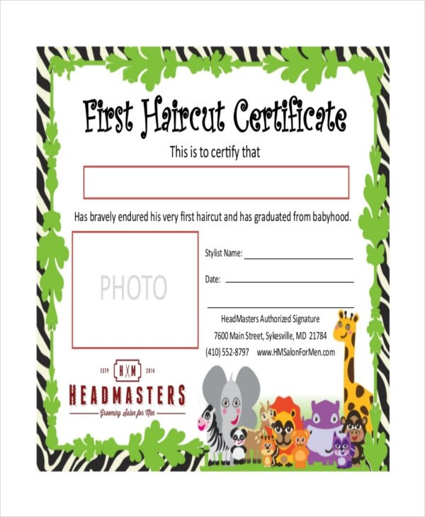 Baby First Haircut Certificate First Haircut Certificate Pdf Haircuts Models Ideas