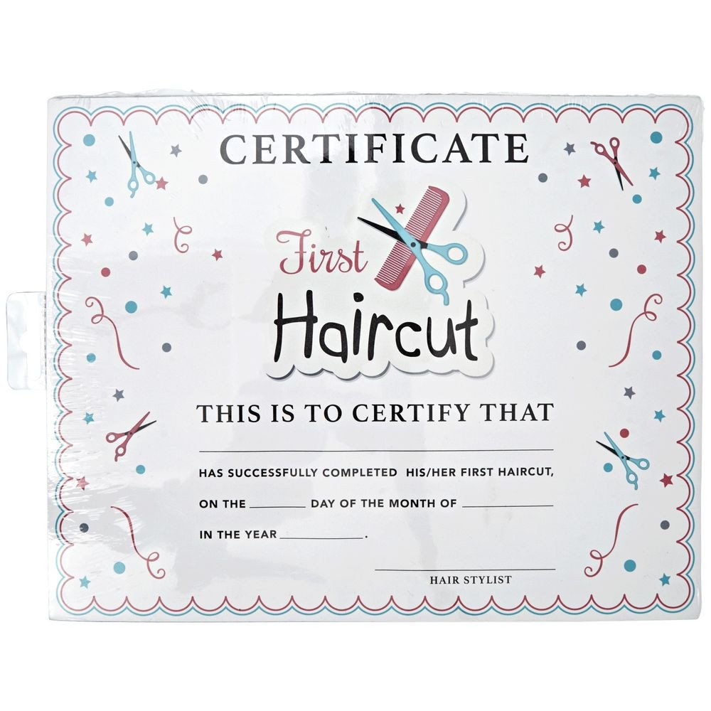 Baby First Haircut Certificate Salon Care My First Haircut Certificate
