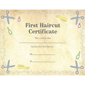 Baby First Haircut Certificate Silhouette Design Store View Design First