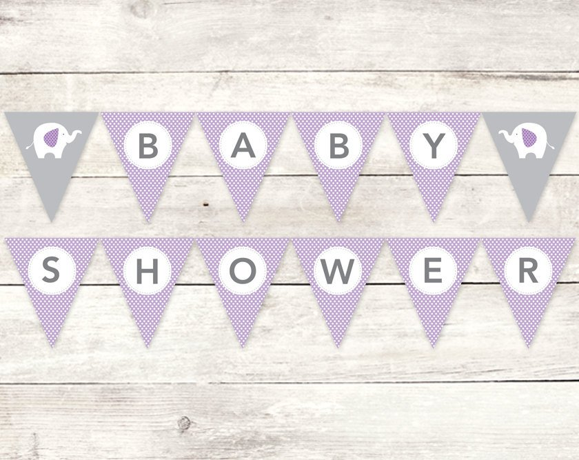 Baby Shower Banner Printable Baby Shower Banner Printable Diy Bunting Banner Elephant