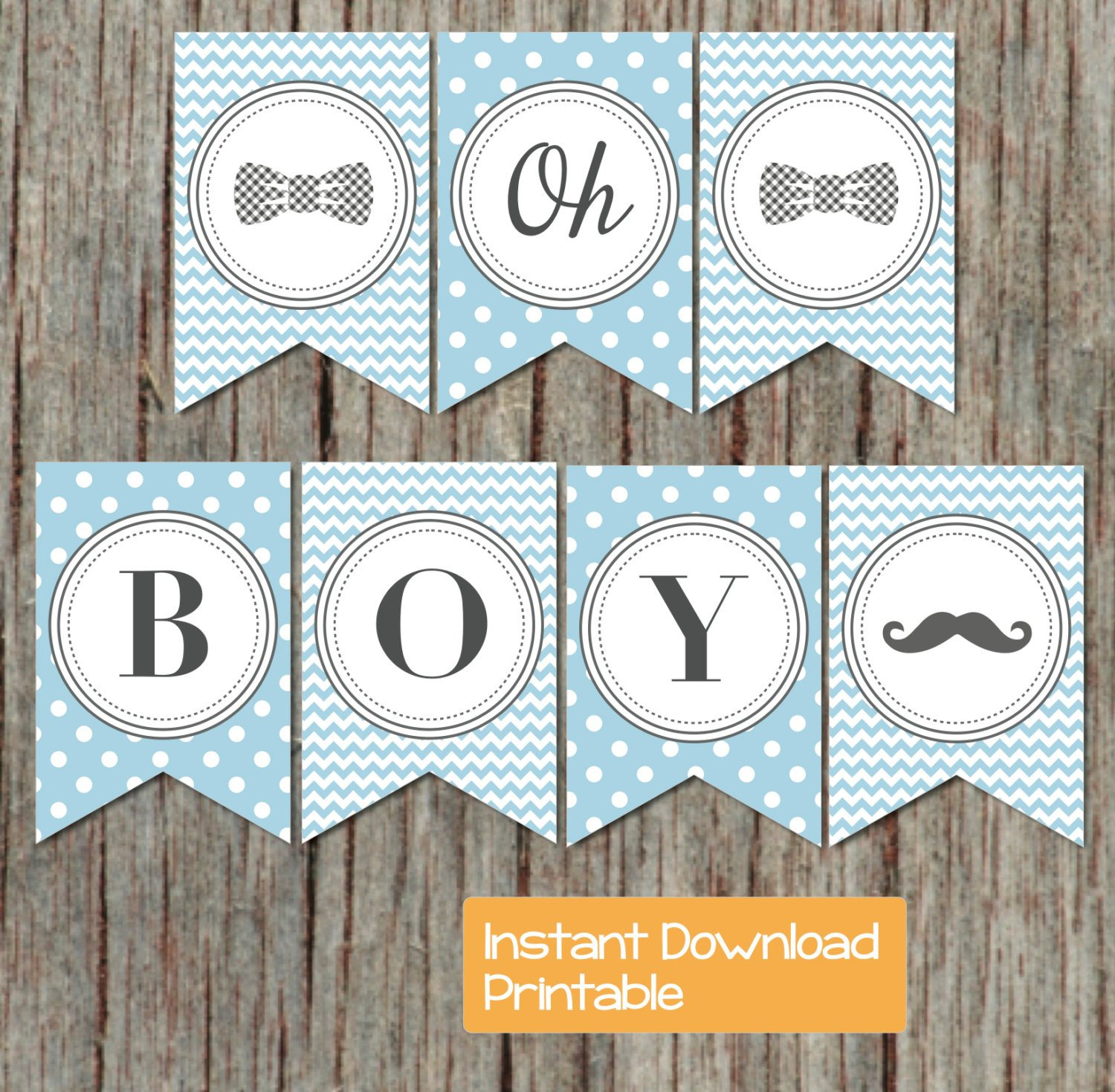 Baby Shower Banner Printable Boy Oh Boy Printable Baby Shower Banner Powder Blue Grey