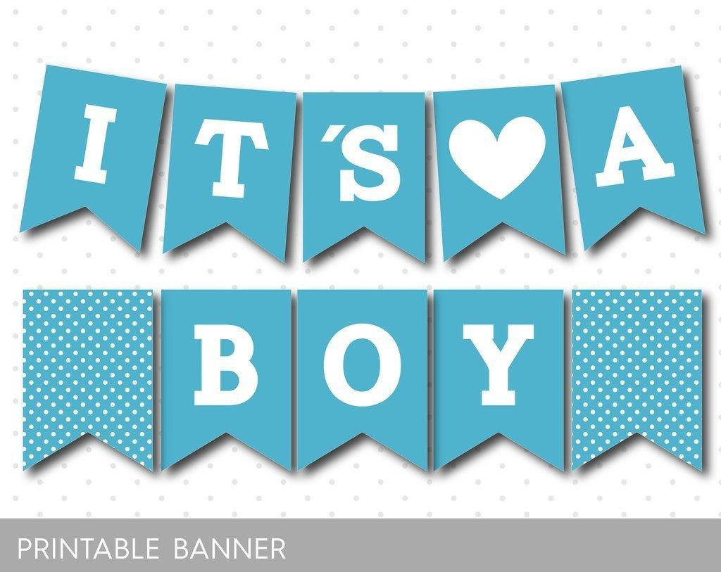 Baby Shower Banner Printable Sea Blue Printable Baby Shower Banner Pb 282
