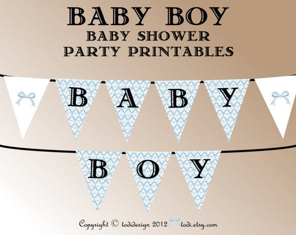 Baby Shower Banner Templates Baby Shower Party Printables Instant Download by todiboutique