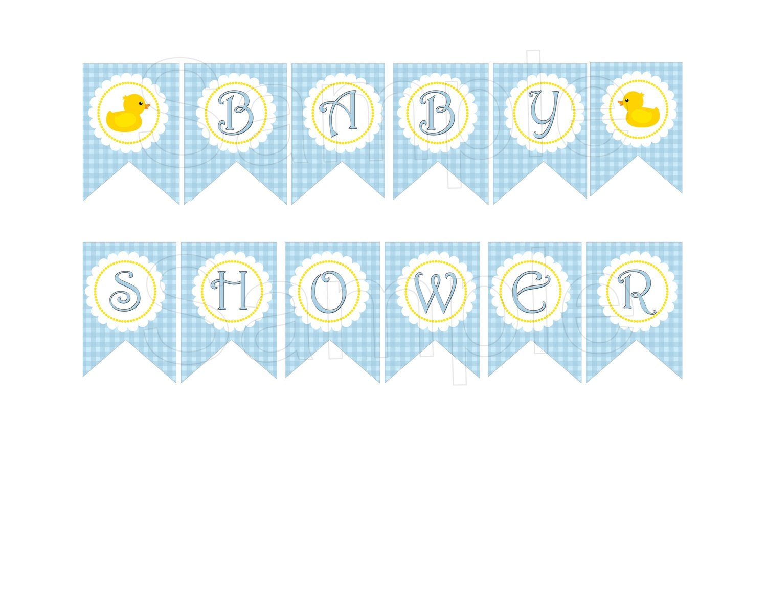 Baby Shower Banner Templates Blue Rubber Duck Baby Shower Diy Printable Banner by Suzz377