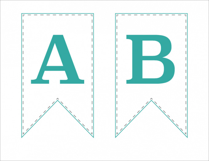 Baby Shower Banner Templates Free Printable Bunting Banner