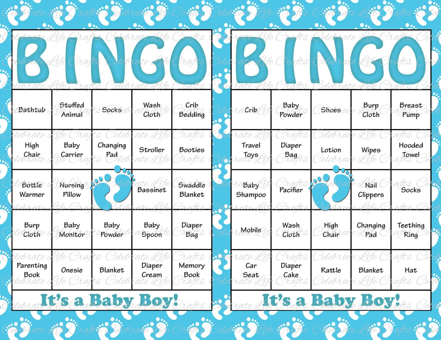 Baby Shower Bingo Template 30 Baby Shower Bingo Cards Printable Party by