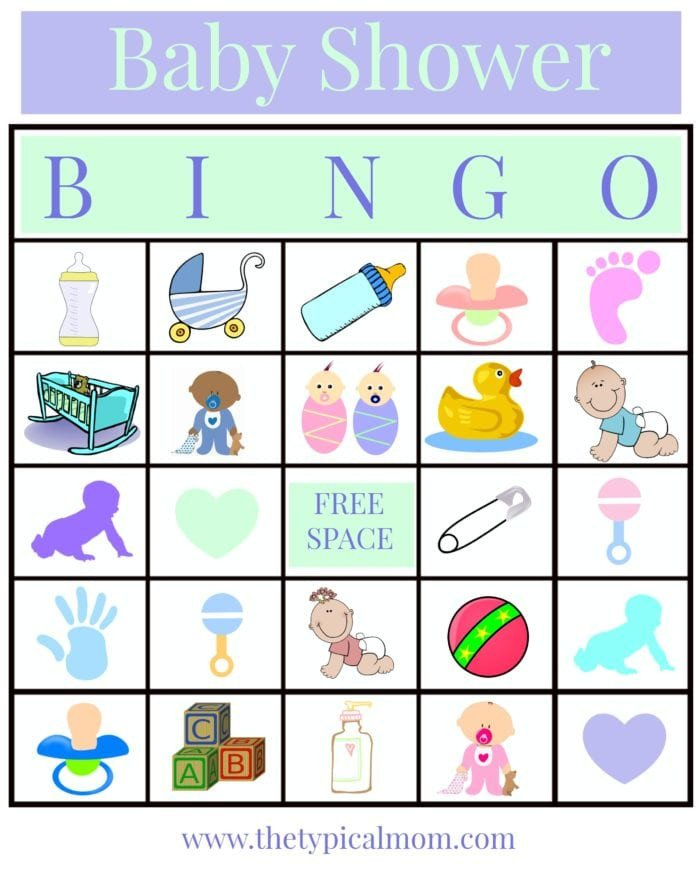 Baby Shower Bingo Template Baby Shower Bingo · the Typical Mom