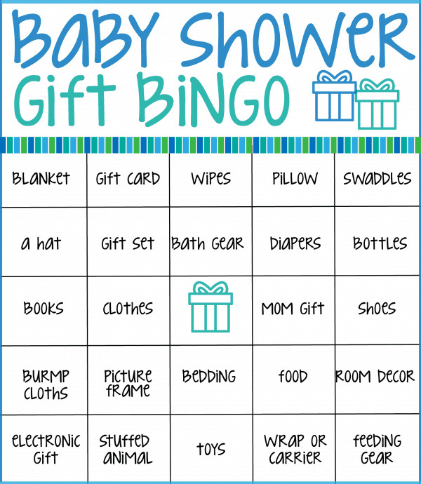 Baby Shower Bingo Template Baby Shower Bingo Cards ⋆ Real Housemoms