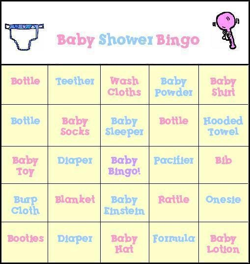 Baby Shower Bingo Template Baby Shower Bingo Free Printable Baby Shower Bingo Cards