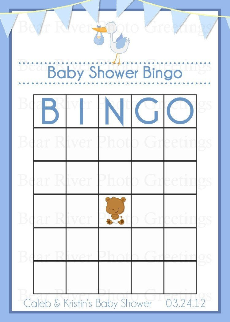 Baby Shower Bingo Template Baby Shower Game Bingo Card Printable Digital by