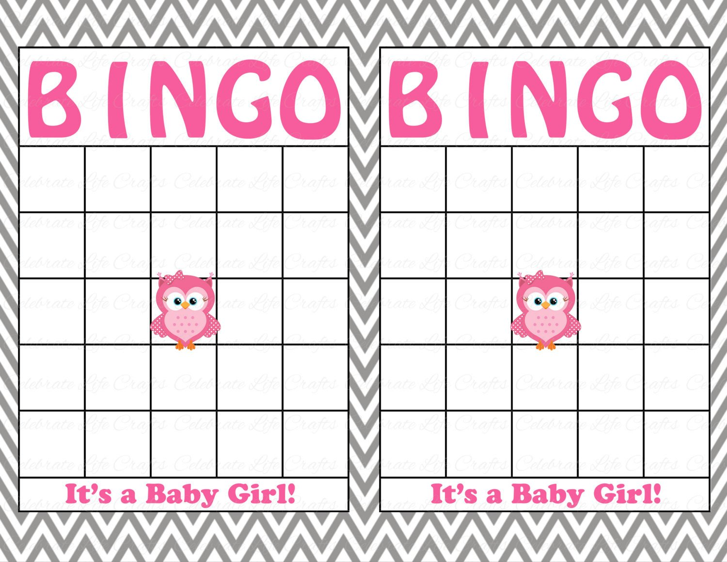 Baby Shower Bingo Template Blank Baby Shower Bingo Cards Printable Party Baby Boy